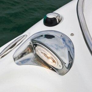 Image 2 - 12 V 8 W مركبة بحرية يخت والملاحة إضاءة أرضية من الاستانليس ستيل القوس ضوء اكسسوارات للقوارب البحرية