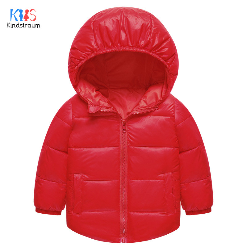 Kindstraum 2017 Boys & Girls Solid Thick Down Wear High Quality Children Hooded Clothes Winter Fashion Parkas for Kids,RC1578