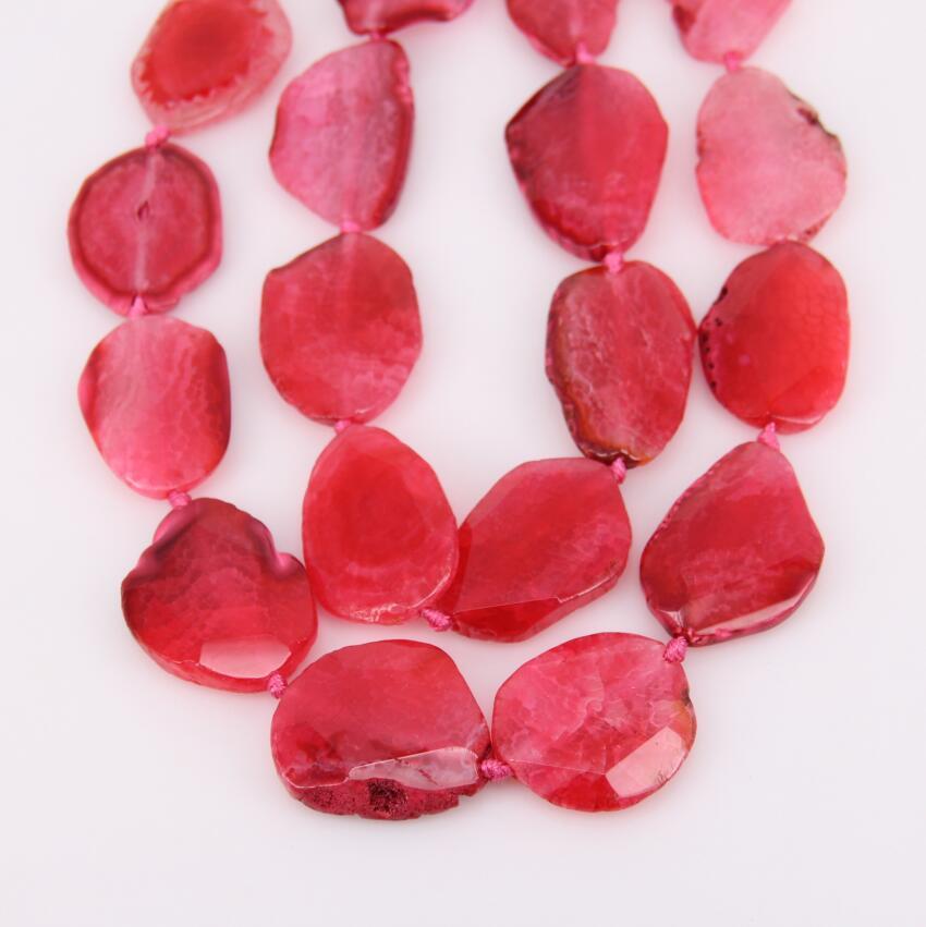 Приблизительно 9 шт. strand, природный розовый Красный Дракон вен купля плиты ломтик Бусины, сырье и ограненных камень Freeform Форма кулон ювелирн...