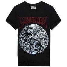 Rock Music Band T Shirt Men For AC DC Metallica Nirvana Slipknot Iron Maiden Pink Floyd Novelty black Cotton Short sleeves