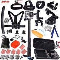 Hot Verkopen Sport camera accessoires set kit mount borst hoofdband auto Houder voor-Go pro hero3/xiaoyi mi 13E gratis verzending
