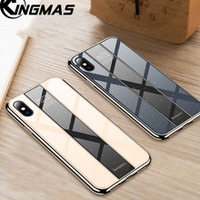 Glass case For iphone X XS Shockproof Case XR MAX Luxury Mirror Cover 6 6S plus 7 8 Plating