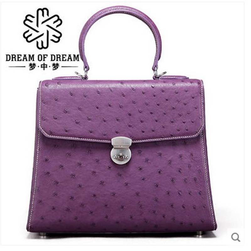 mengzhongmeng imported ostrich leather women handbag lady fashion business popular women handbag genuine leather fashion leisure mengzhongmeng south africa ostrich leather women handbag fashion lady business bags briefcases female cross section 5 color
