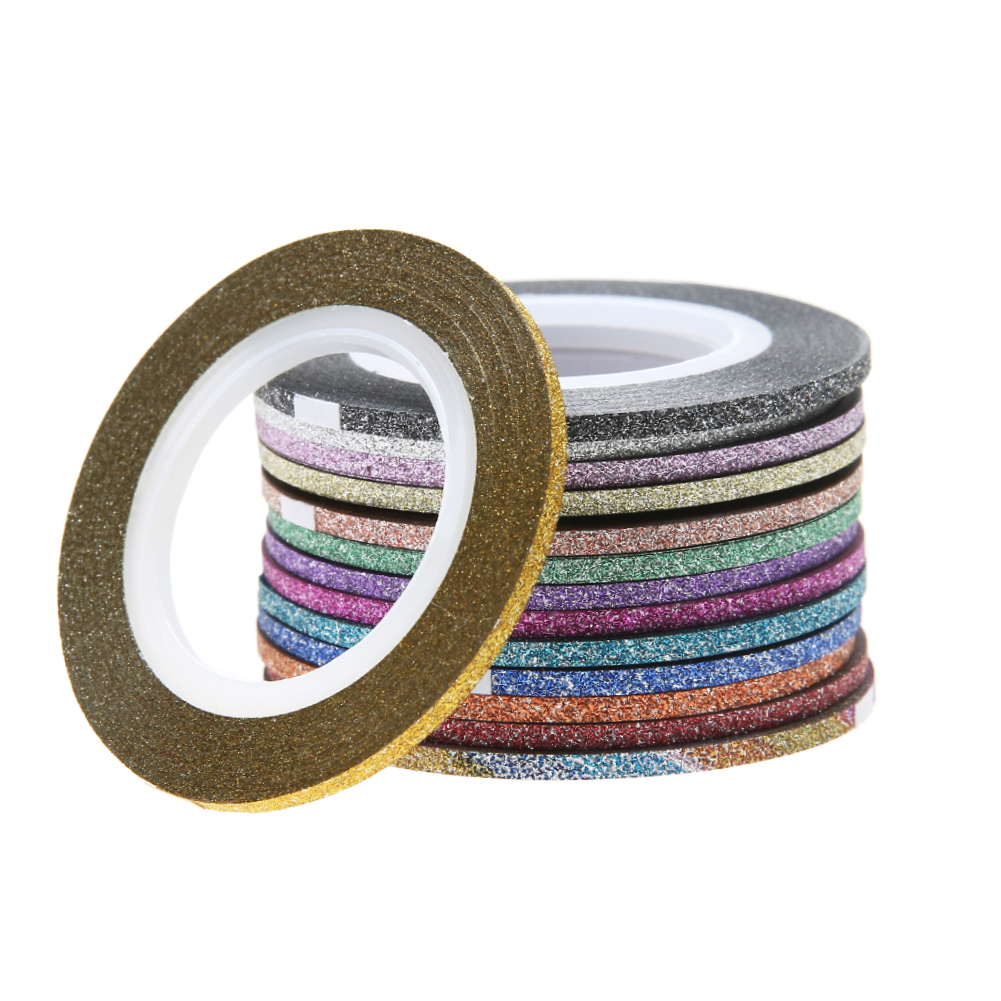 Nail Striping Tape Walmart: Aliexpress.com : Buy 12 Rolls Glitter Scrub Nail Art