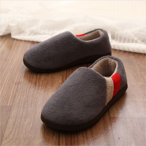Image 4 - FAYUEKEY Big Size 2019 Autumn Winter Home Thermal Cotton Padded Warm Slippers Men Women Indoor\Floor Sneaker Lovers Flat Shoes