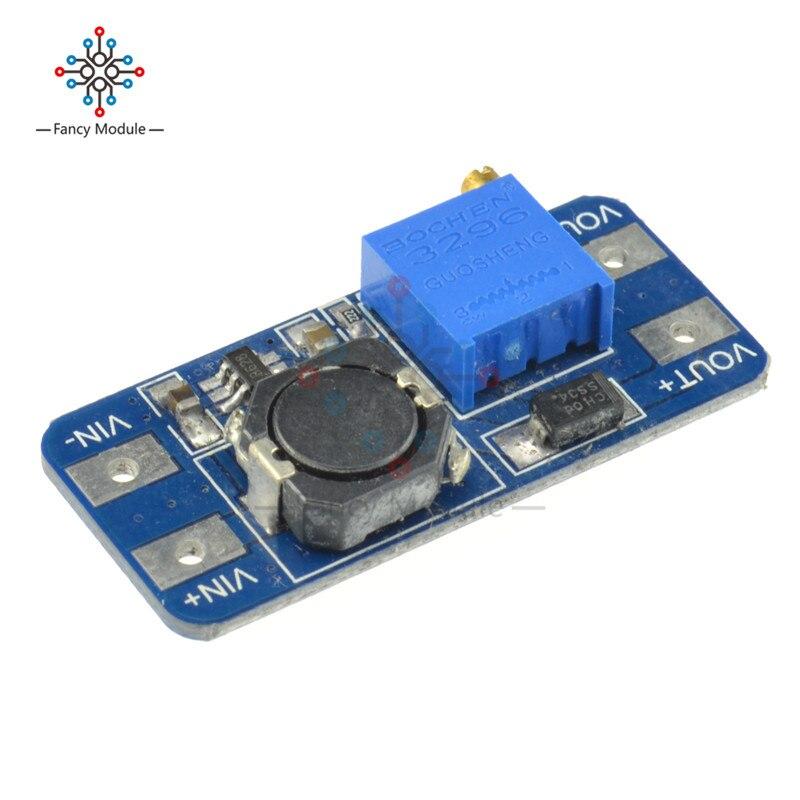 MT3608 DC-DC, повышающий усилитель конвертера, усилитель мощности, модуль питания, макс. выход 28 в, 2 А, для платы Arduino