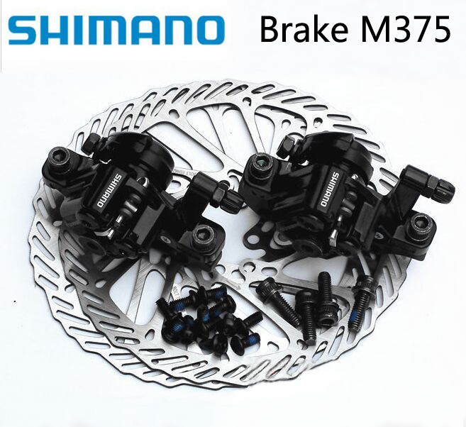 Shimano BR-M375 Bicycle Brake M375 RT54/RT56 Mountain MTB Bike Front Rear HS1/G3 160/180mm Disc Rotor Calipers Pk BB7 BB5 Parts
