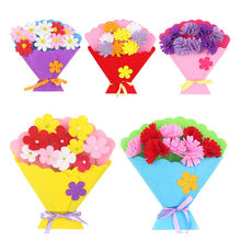 Toy for Children Craft Toy DIY Flower Bundle Non-woven Hand Bouquet Kindergarten Learning Education Toy flower pot potted props(China)