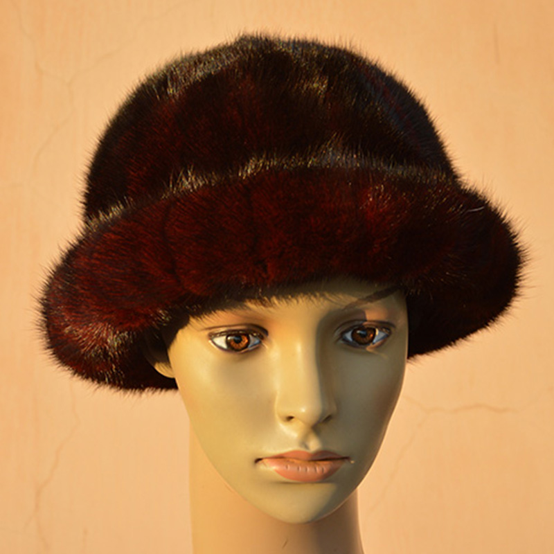 Real mink Hat Lady winter warm hat Russian fashion women Winter Hat  American elegant woman hat with lining коврики в салон vw golf vi 04 2009