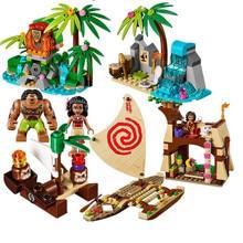 515pcs Girls Friends Princess Vaiana Moana Ocean Voyage Building Block Compatible with Legoing Friend toy for children juguetes