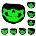 mouth mask Skull Printed Warm skull mouth Ghost glow in night anti dust mask prevented cold Halloween Festival Skull Skeleton L3