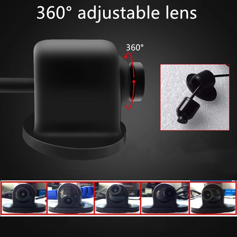 lowest price GSPSCN Mini CCD Coms HD Night Vision 360 Degree Car Front View Side View Rear View Camera Reversing Backup Camera