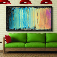 QKART Home Decor Canvas Wall Colorful Abstract Oil Painting Canvas Print Wall Pictures for Living Room posters and prints Pop