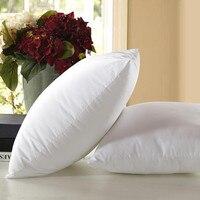 Travesseiro de cabeça branca  travesseiro para dormir no pescoço  almofada quadrada de algodão  não tecida  almofada interna núcleo almofada