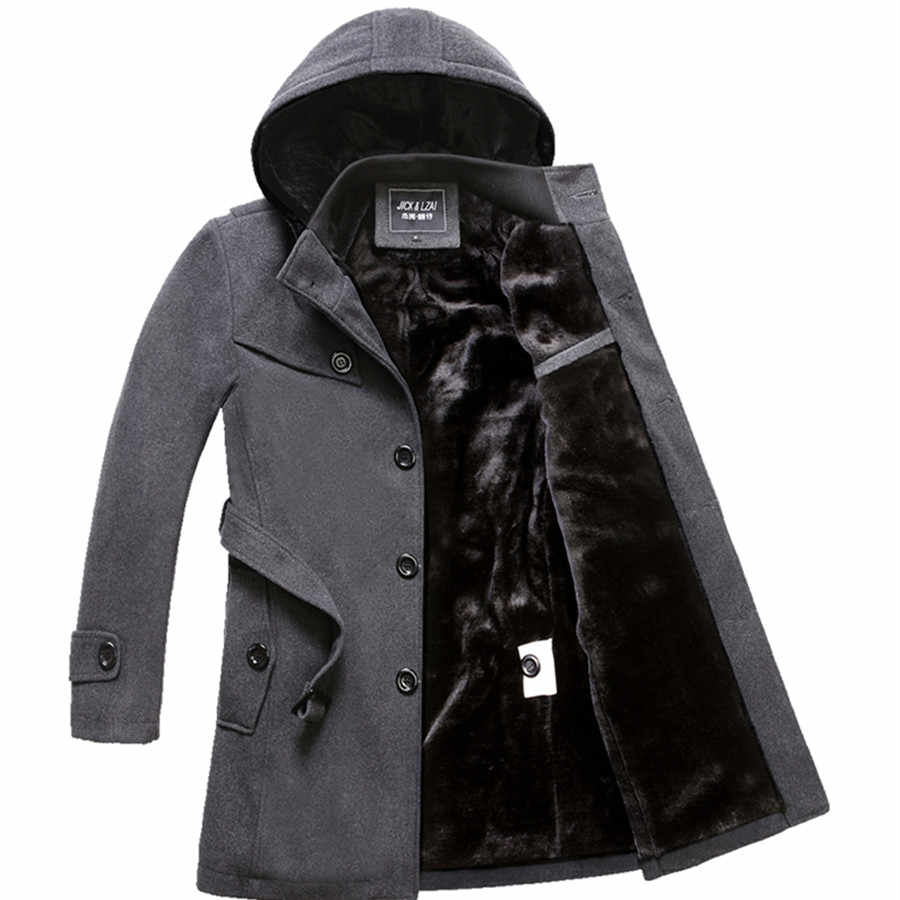 M-4XL Winter Trench Coat Men Hot Sale Woollen Coat Thick Men's Clothing Size 4XL Wool Jackets