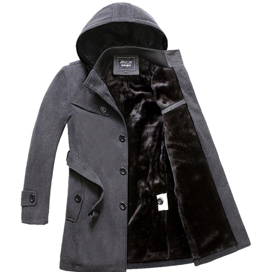 M 4XL 겨울 트렌치 코트 남자 뜨거운 판매 모직 코트 두꺼운 남자 의류 크기 4xl 양모 자 켓-에서울 & 블렌드부터 남성 의류 의  그룹 1