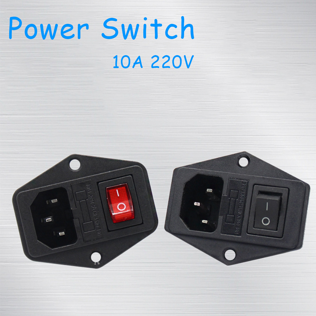 Etmakit <font><b>10A</b></font> <font><b>220V</b></font> Power Switch AC Part For Makerbot For Ultimaker 3 in 1 <font><b>Fuse</b></font> Supply Socket Outlet Triple 3D Printers Parts image