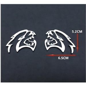 Image 5 - 2 Pcs מתכת רכב מדבקות סמל אוטומטי תג מדבקות לרכב זנב עלה לוח לדודג SRT מטען שונה רכב סטיילינג אבזרים