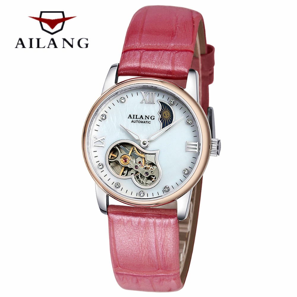 Famous Luxury brand Skeleton Women automatic Mechanical Watch Rose Gold Lady Wrist watch Tourbillon Watch Relogio Feminino hot sale famous bp brand princess butterfly lady lucky clover watch austrian crystal automatic self wind wrist watch