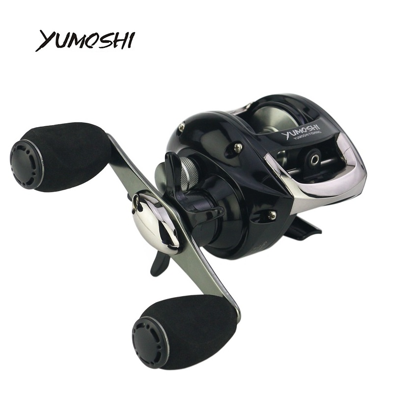 YUMOSHI 2018 NEW 12+1BB Ball Bearing Baitcasting Fishing Reel 6.3:1 Left Right Hand Bait Casting Reel Carp Fishing Tackle LV200 baitcasting reel ball 12 1bb bearings fishing gear water drop wheel right hand fishing tackle lure bait speed casting 6 3 1