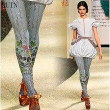 RUIN women 's tights Lolita skull flower printed pantyhose female girl tights