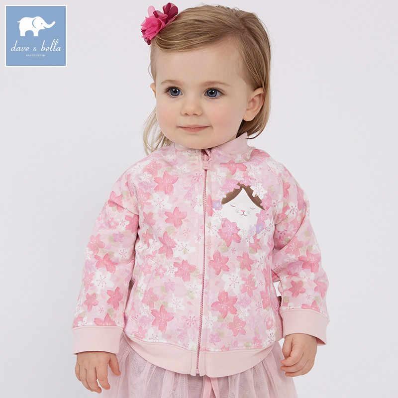 DBJ7654 bella דייב תינוק אביב תינוקת האופנה פרחוני מעילי ילדים חמוד ילדים העליונים בגדים באיכות גבוהה