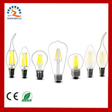 2w 4w 6w 8w A60 ST64 G45 C35 B10 T45 E27 E14 Clear Led Filament Bulb Frosted LED Lamp Lights Warm 220v AC Dimmable Retro light(China)