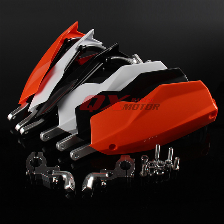3 colors available black white orange 22mm motorbike parts moto protection motocross hand guard for KTM motorcycle handguard black big size universal 22mm motorbike hand guard dirt pit bike hand protect parts moto falling protection motorcycle handguard