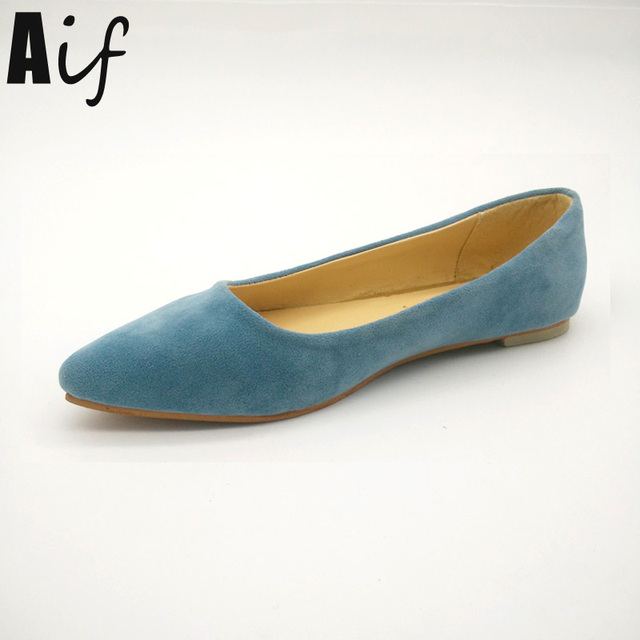 Women's Classy Pointed Toe Suede Flats