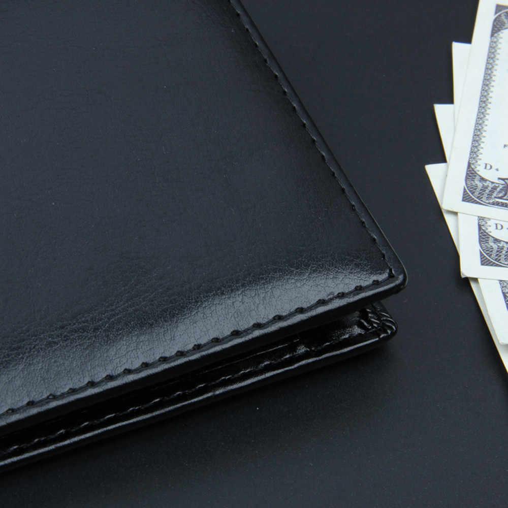 Dompet Pria Kulit Solid Mewah Dompet Pria Pu Kulit Slim Bifold Pendek Dompet Pemegang Kartu Kredit Bisnis Pria Dompet # YL5