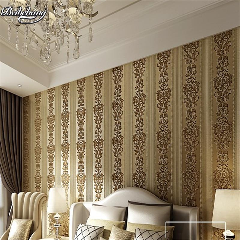 beibehang custom modern simple European environmental non - woven wallpaper 3D exquisite embossed bedroom wallpaper beibehang environmental non   woven
