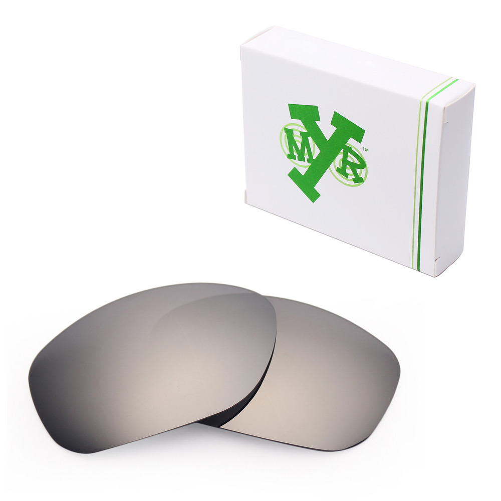 Mryok ПОЛЯРИЗОВАННЫЕ замены Оптические стёкла для Oakley питбуль Солнцезащитные очки для женщин Серебряный Титан
