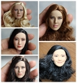 """KUMIK Hand made 1/6 Phicen Female HEAD sculpt head carvings for 12""""collectible action figures in stock"""