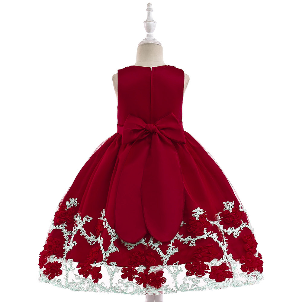 2019 Little   Flower     Girls     Dresses   for Weddings Formal Party Sequined Bow   Dress   Kids Prom First Communion Tulle   Dresses