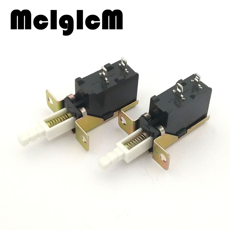 5pcs Push Button Power Switch 2pin 8A/128A 250V Power Push Switch TV-5 Self-locking mje15032g mje15033g to220 8a 250v 50w power transistors complementary audio amplifier 5pcs mje15032 5pcs mje15033