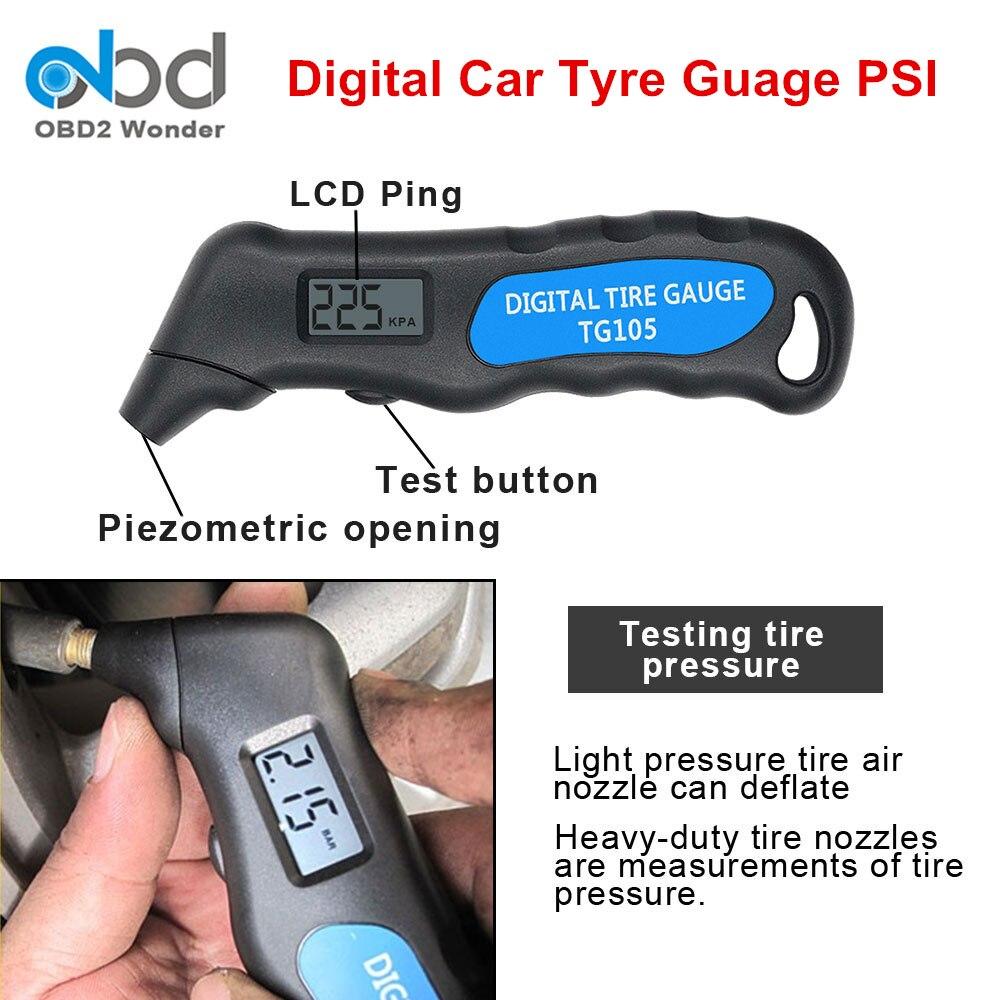 2019 TG105 Tire Pressure Gauge Meter PSI Digital Car Tyre Air Pressure Monitoring System TPMS Tester Tool Auto Truck Motorcycle