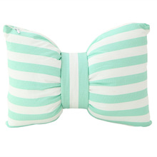 Creative simulation bowknot pillow stripe cushion Can unpick and wash bed pillows Gifts for children New Year gift Personality