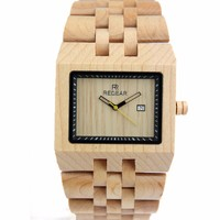 Relogio 2017 New REDEAR Square Zebra Wood Bamboo Men's Watch Top Brand Casual Quartz Watches Luxury Business Men Wristwatches