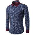 Mens Paisley Shirts Vintage Palace Flowers Printed Shirts Male Slim Fit Long Sleeve Retro Chinese Style Floral Shirts for Men