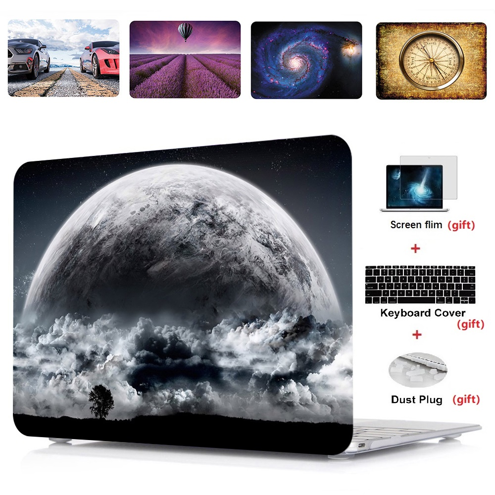 4in1 Printing Laptop Hard Case Shell Keyboard Cover Screen Film For font b Apple b font