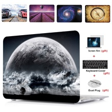 4in1 Printing Laptop Hard Case Shell+Keyboard Cover+Screen Film For Apple Macbook Air Pro Retina Touch Bar & ID 11 12 13 15 inch