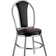 Полированный обеденный стул из нержавеющей стали, мягкое полиуретановое сиденье, быстрая