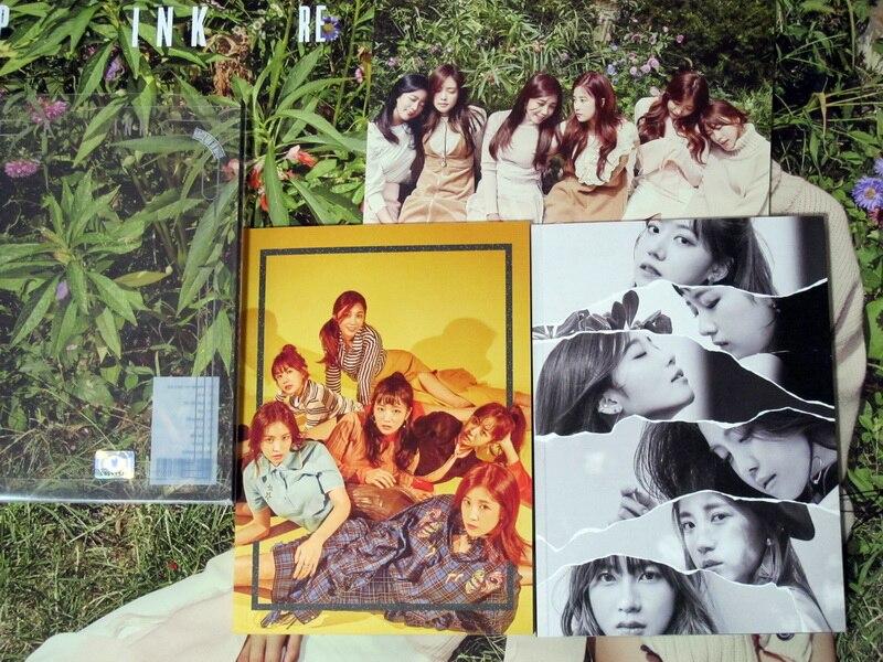 APINK autographié signé 2016 3rd album rose révolution CD + livre photo + affiche dédicacée nouvelle version officielle coréenne 10. 2016