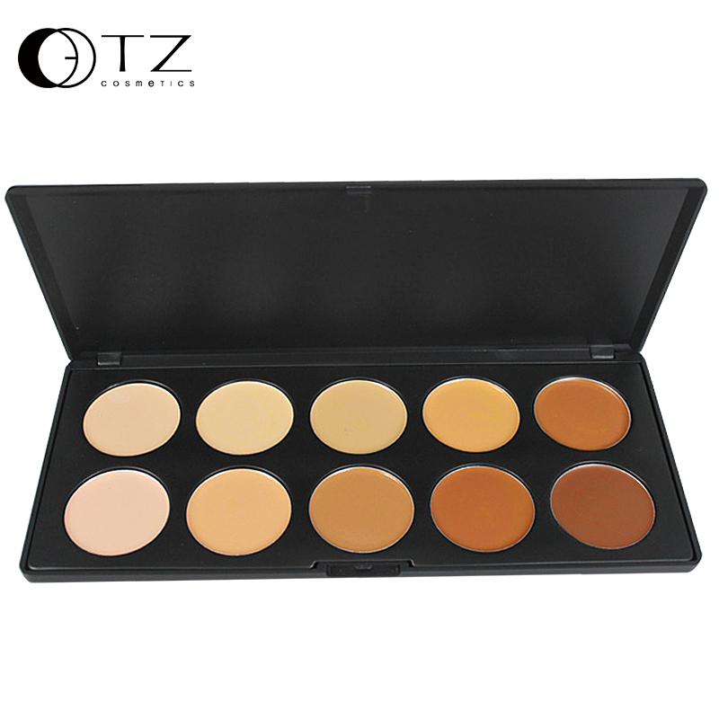 Professional Make up 10 Colors Concealer Palette <font><b>Contouring</b></font> Face Powder for Makeup AC10