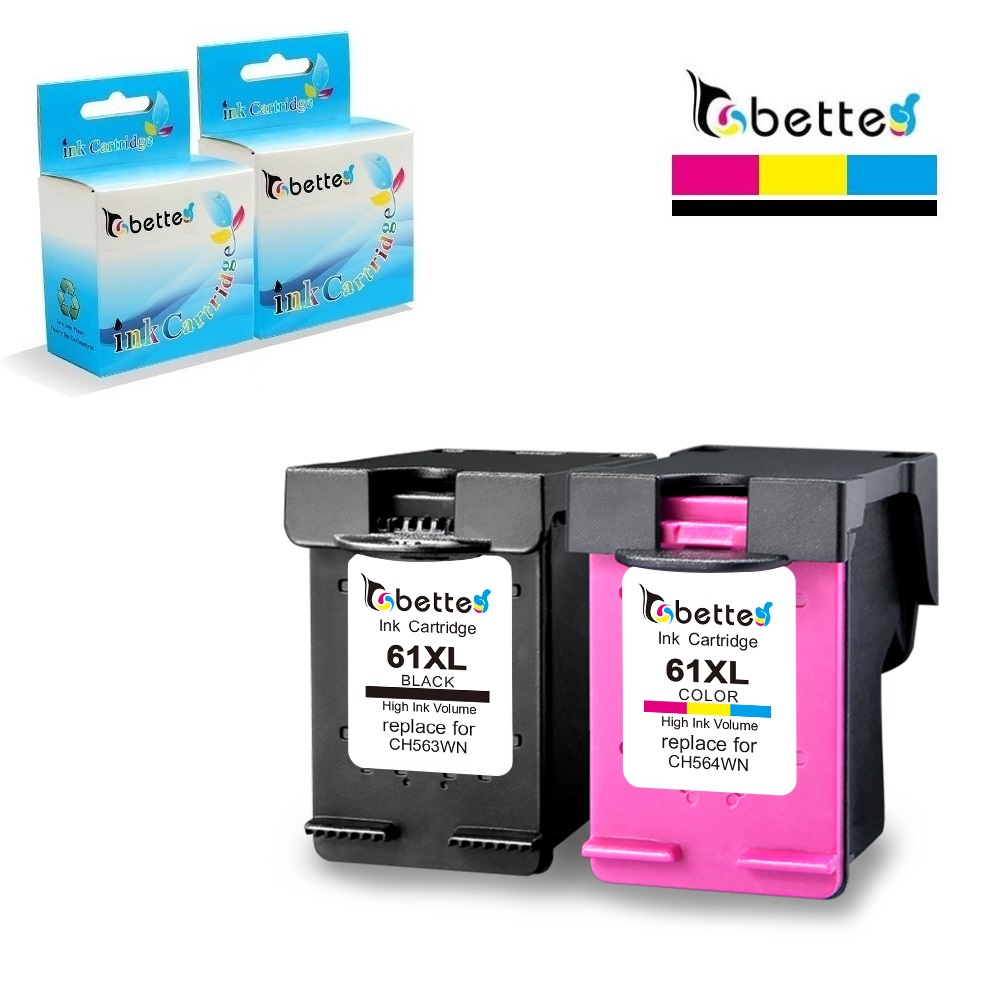Compatible with 3PK Black Ink for HP 61XL Officejet 2620 4630 4632 4635