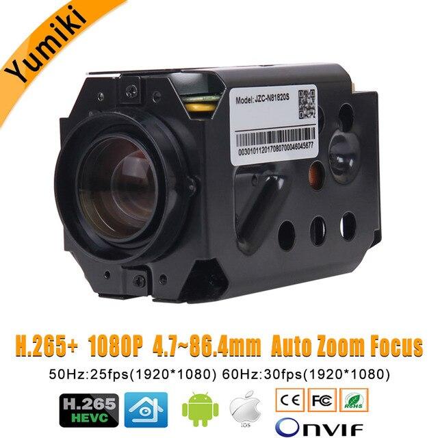 """H.265 + 1080P IP płytka kamery moduł Hi3516D + 1/2. 8 """"IMX291 CMOS 4.7 84.6mm 18X z napędem Zoom i ogniskowa obiektywu Super Night Vision"""