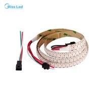 1M 144 led/m WS2812B led pixel strip,Non-Waterproof ip30,White PCB, WS2812 IC SMD 5050,Addressable led RGB Full color,DC5v