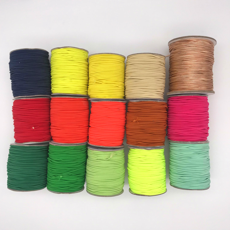 5yards 2mm Colorful Best-Quality Round Elastic Band Round Elastic Rope Rubber Band Elastic Line DIY Sewing Accessories
