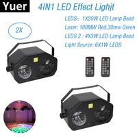 Dj Laser Light LED Disco Light Magic Ball Laser Pattern Strobe 4IN1 LED Light Wash Lighting Effect Control Dj Light Party Club