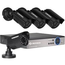 Defeway 1200TVL 720 P HD Открытый безопасности дома Камера системы 4CH 1080N HDMI DVR CCTV комплект видеонаблюдения AHD Камера Комплект